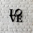Tableau déco en acier Love