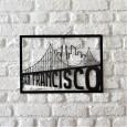 Tableau déco en acier San Francisco