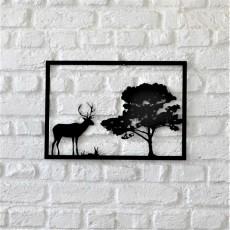 Metal wall art Stag i̇n the woods