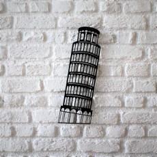 Metal wall art Be Pisa