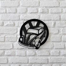 Tableau déco en acier Beetle
