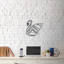 Metal wall art Swan