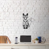 Metal wall art Fox