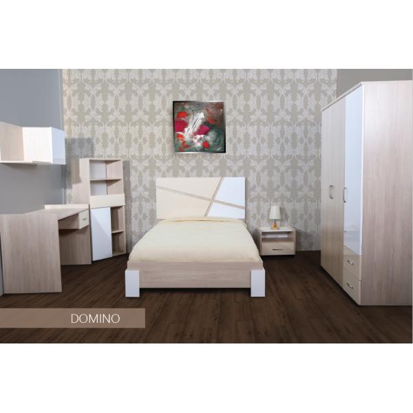 Chambre à coucher Domino Penderie 3 portes Dimensions de lit 90cm / 1m90