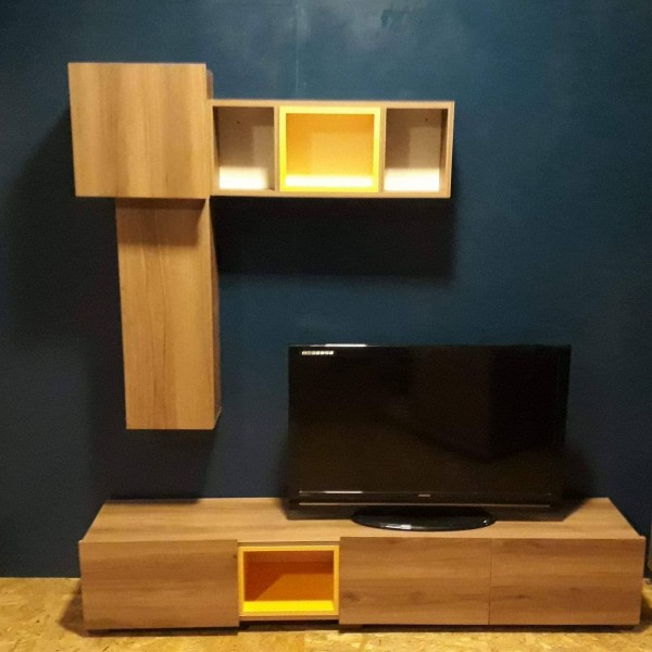 Copy of meuble tv avec tiroir casa couleur gris - Meuble tv avec tiroir ...