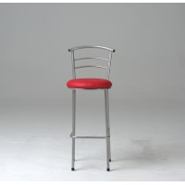 Tabouret Alice chromé